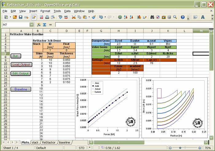 Shim ReStackor example calculation retuning a shim stack to